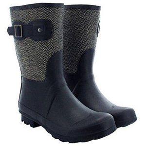 Chooka Tweed Herringbone Rainboots